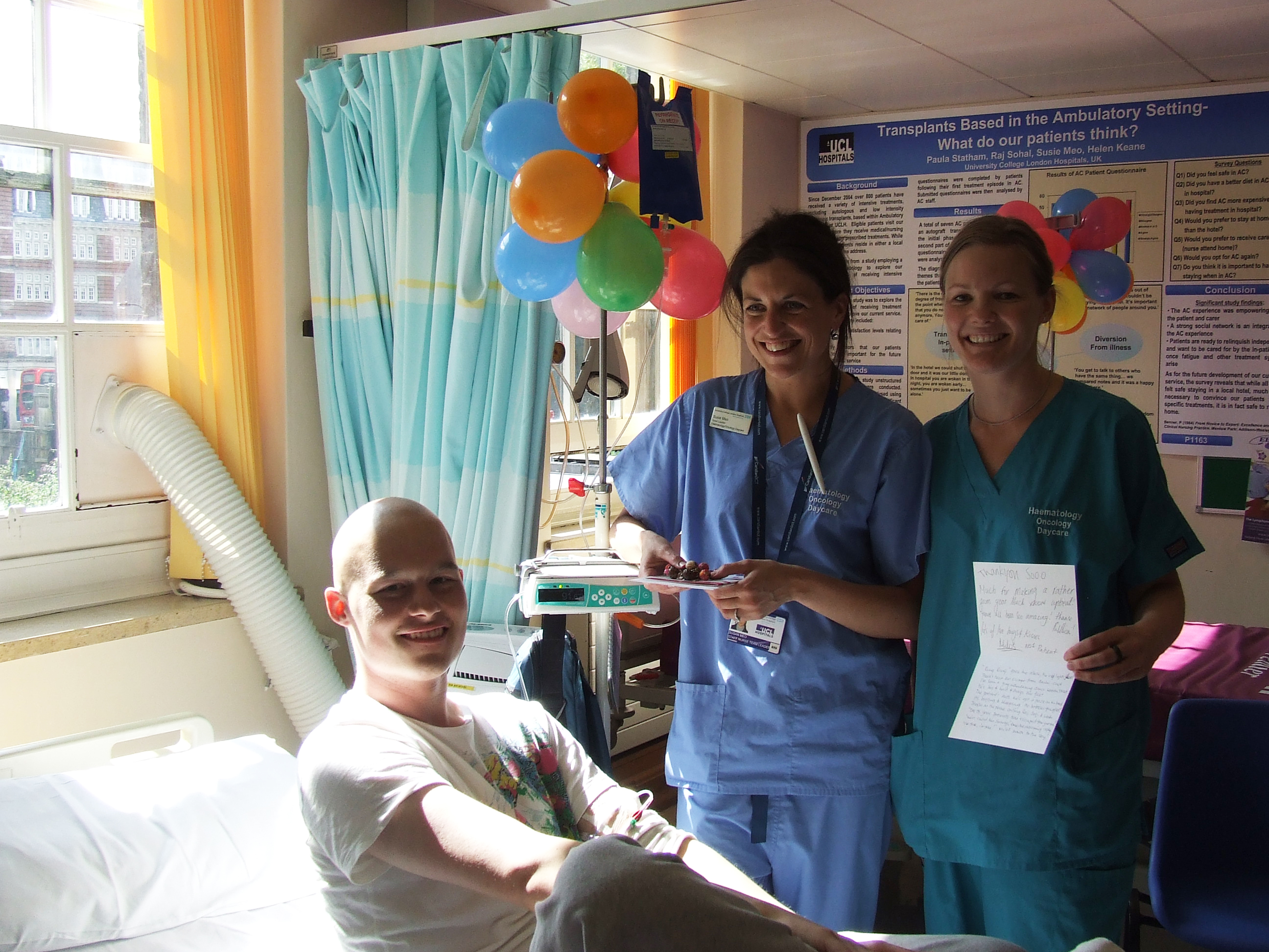 Milos Maguire was successfully treated for Sarcoma Cancer at UCH